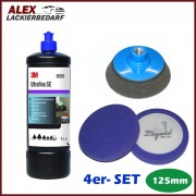 3M 50383 Anti-Hologramm Politur 1L+ 4 x Polierschwamm Set 125mm + Polierteller M14