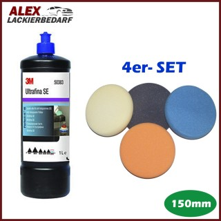 3M 50383 Perfect-it III Anti-Hologramm Politur 1Liter + Polierschwamm Set 150mm