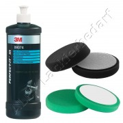 3M 09374 Perfect-it III Schleifpaste Fast Cut Comp 1kg + Polierschwamm 2-er Set 150mm