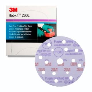 3M 51154 Hookit Purple+ 260L Hochleistungsschleifscheiben P1500