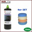 3M 50417 Perfect-it III Schleifpaste PLUS 1 kg + 4 x Polierschwamm Set 75mm