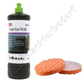 3M 50417 Perfect-it III Schleifpaste PLUS 1 kg + Polierschwamm 180mm