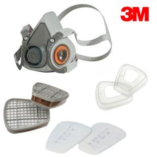 3M 6000 Atemschutz Halbmaske 6300 Gas Maske Gummi Größe L + Filter