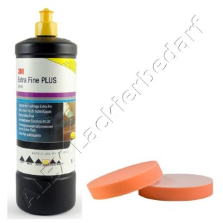 3M 80349 Perfect-it III Extra Fine Schleifpaste 1Liter + Polierschwamm 180mm