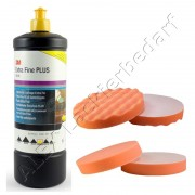 3M 80349 Perfect-it III Extra Fine Schleifpaste 1Liter + Polierschwamm 180mm 2-er Set