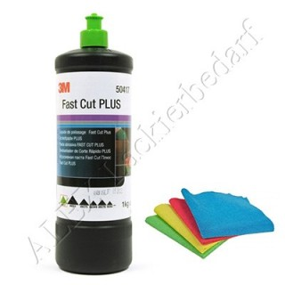 3M 50417 Perfect-it III Schleifpaste PLUS 1 kg + 1 Poliertuch
