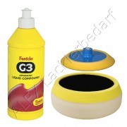 Farecla G3 Advanced Liquid Politur 500ml / 700g + Polierteller + G-MOP Polierschwamm