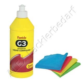 Farecla G3 Advanced Liquid Politur / Schleifpaste 500ml / 700g (AG3-700)+ Poliertuch
