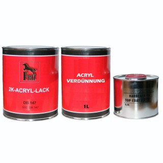 2K Acryl Autolack MB147 ARKTICWEISS 1 Liter + Härter 0,5L + Verdünnung 1,0 L