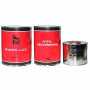 2K Acryl Autolack Audi Y9C IBISWEISS 1 Liter + Härter 0,5L + Verdünnung 1,0 L