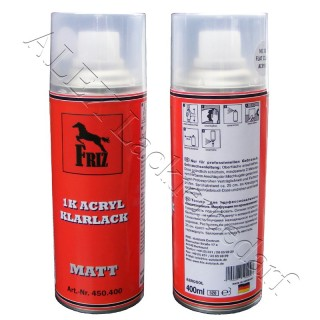 FRIZ 1K Acryl Klarlack MATT Spray 400ml farblos transparent