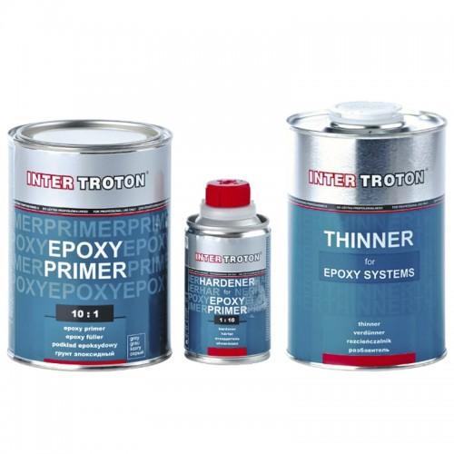 inter troton epoxy primer epoxid grundierung 2k 10 1 1kg h rter 100g verd nnung 1l. Black Bedroom Furniture Sets. Home Design Ideas