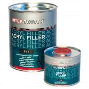 Inter Troton 2K HS Acryl Füller 5:1 2,5L + Härter 0,5L grau / schwarz / weiss