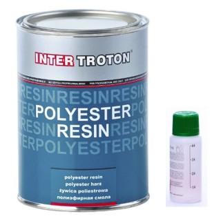 Inter Troton Polyesterharz Polyester Harz 1kg +40g Härter Auto Laminierharz