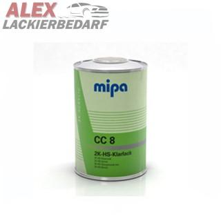 MIPA 2K HS Klarlack CC8 1L + Härter HS10 kurz 0,5L