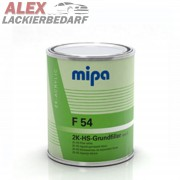 MIPA 2K Acryl Grundierung Füller F54 1L grau + Härter H5 extra kurz 0,25L
