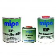 MIPA 2K EP Grundierfiller Füller 1L + Härter E10 0,5L + EP Verdünnung 1L