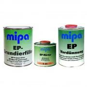 MIPA 2K EP Grundierfiller Füller 1L + Härter E25 0,5L + EP Verdünnung 1L
