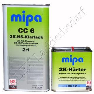 MIPA 2K HS Klarlack CC6 5L + Härter HS10 kurz 2,5L