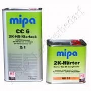 MIPA 2K HS Klarlack CC6 5L + Härter HS25 normal 2,5L