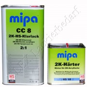 MIPA 2K HS Klarlack CC8 5L + Härter HS10 kurz 2,5L