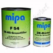 MIPA 2K Acryl Grundierung Füller F54 4L grau + Härter H5 extra kurz 1L