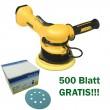 Mirka ROP2  512NV 2-Hand Poliermaschine Druckluft 125mm + 500 Blatt Schleifscheiben