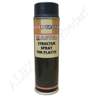 3 x 500ml Master Troton Strukturlack für Kunststoff Spray Bumper Paint Armaturenbrett Grau