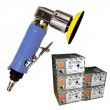 Mini Druckluft Exzenterschleifer 75mm + 75mm Schleifscheiben Indasa P80 P150 P240 P320 P400