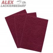 Premium Schleifvlies Pad 150 x 230mm Rot P320 mittel